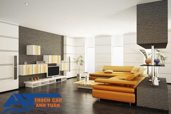 Trần thạch cao phẳng cho phòng khách chung cư