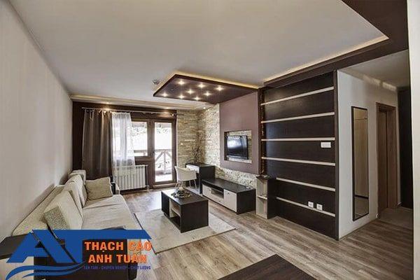 Mẫu thiết kế trần thạch cao hiện đại cho phòng khách chung cư