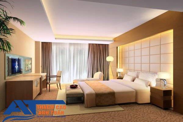 Mẫu vách ngăn thạch cao phòng ngủ (hình 1)