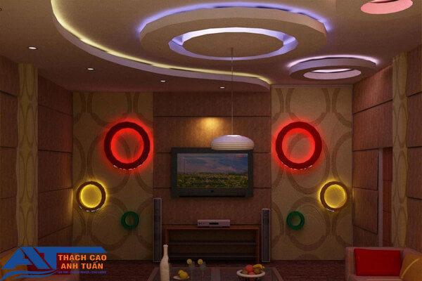 Thêm 1 mẫu trần thạch cao phòng karaoke mới nhất