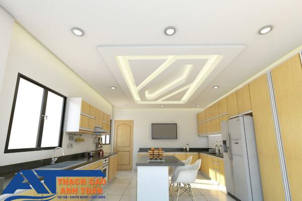 Mẫu trần thạch cao nhà bếp cho chung cư
