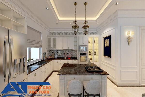 Trần thạch cao cho phòng bếp cho nhà biệt thự