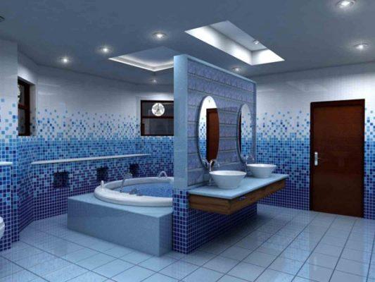 Mẫu vách thạch cao giúp tiết kiệm không gian nhà vệ sinh