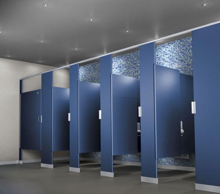 Vách ngăn thạch cao giúp chia không gian nhà vệ sinh